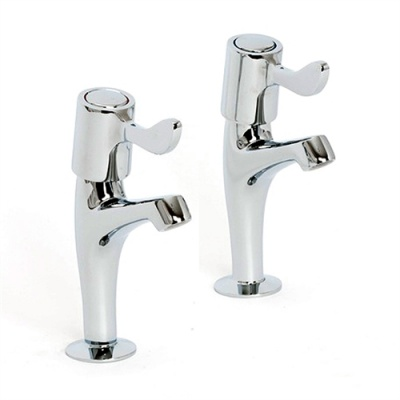 Skara Value Quarter Turn High Neck Kitchen Lever Taps