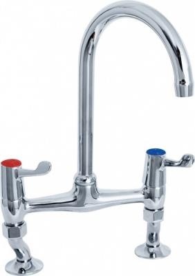 The Commercial Lever Bridge Sink Mixer Notjusttaps Co Uk