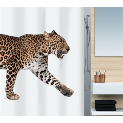 Leopard Luxury Fabric Shower Curtain