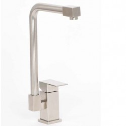 Contemporary Square Stainless Steel Kitchen Mixer Tap
