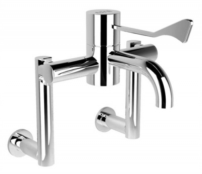 HTM SafeTouch Thermostatic Tap on Extended Wall Legs
