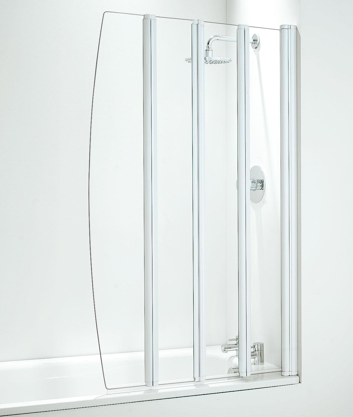 quad folding shower screen notjusttaps co uk quad folding bath shower screen