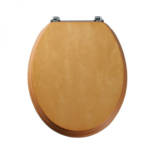 Real Wood Veneer Toilet Seat Pine Finish