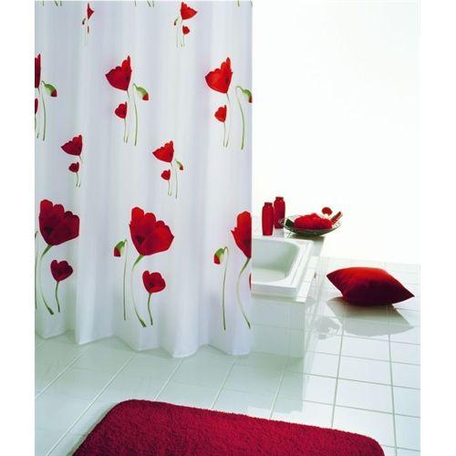 Red Poppy Shower Curtain Notjusttaps