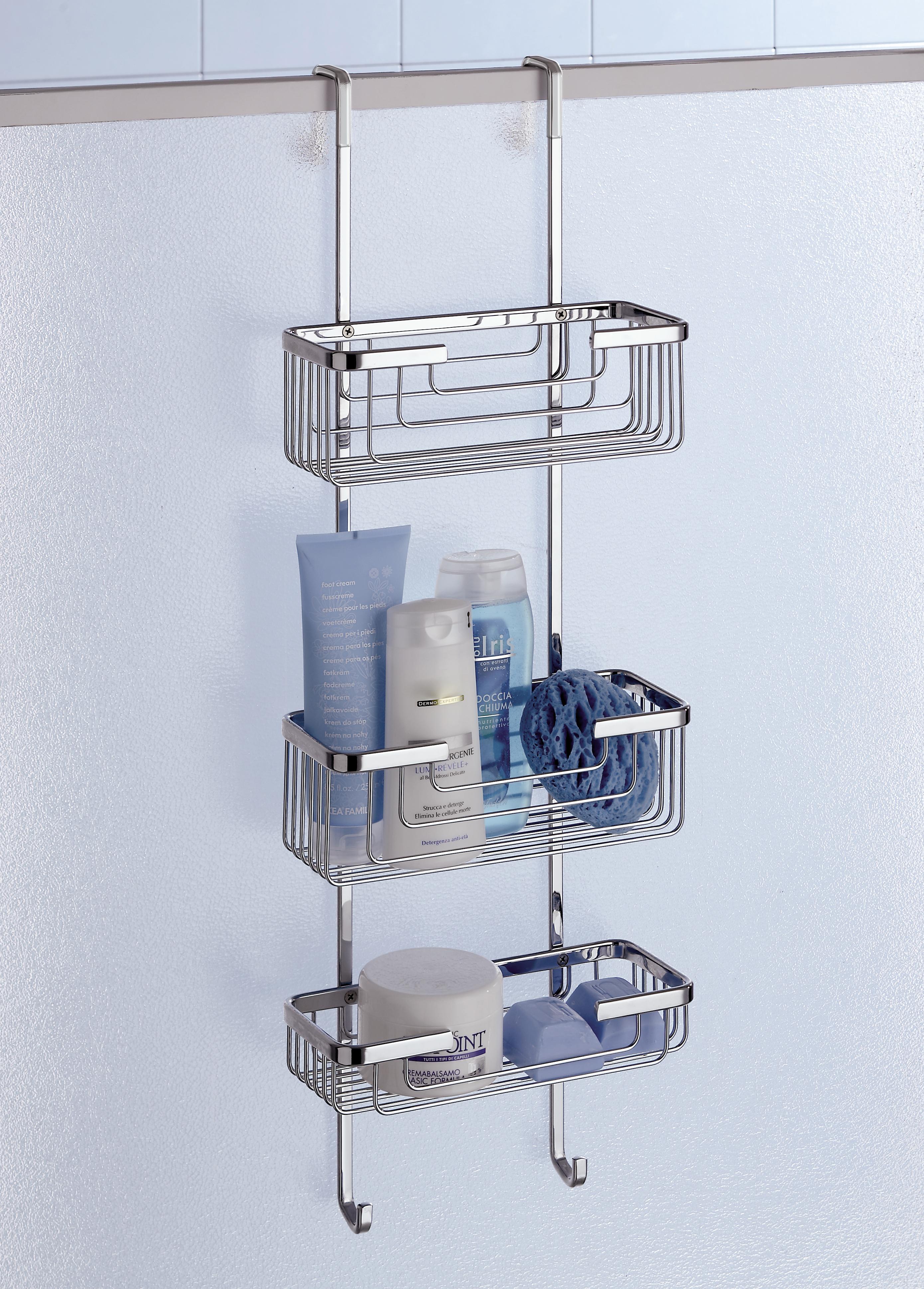 deluxe 3 tier overdoor hanging shower cubicle tidy. Black Bedroom Furniture Sets. Home Design Ideas
