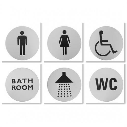 Bathroom Signs Uk urban steel bathroom signs - notjusttaps.co.uk