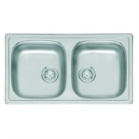 Compact Commercial Series Double Bowl Medical Sink