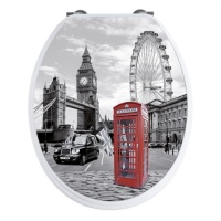 'London' Famous Cities Toilet Seat - Soft Close Hinges