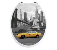 'New York'  Famous Cities Toilet Seat - Soft Close Hinges