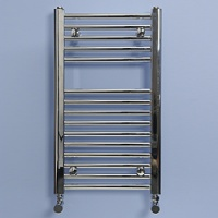 Maree 400 x 688mm Straight Chrome Heated Towel Rail