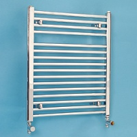 Maree 500 x 688mm Straight Chrome Heated Towel Rail