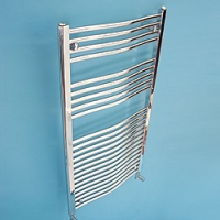 Maree 600 x 1120mm Curved Chrome Heated Towel Rail