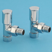 Alliance Bathroom Radiator Valves - Angled