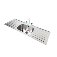 '316'  Stainless Steel Laboratory Sinks - Single Bowl/Double Drainer