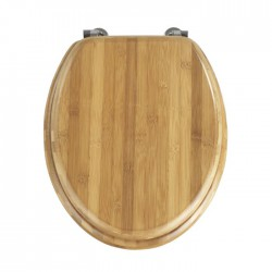 Dark Bamboo Toilet Seat - Stainless Hinges