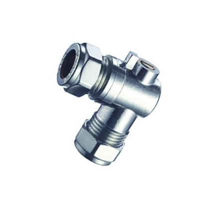 Angled Isolating Valve - 15mm Fittings