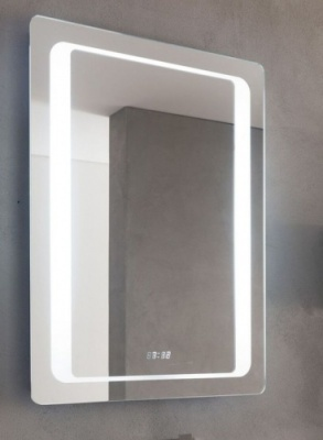Glow 600 Backlit LED Mirror with Clock