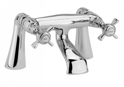 Edwardian Bath Filler - Chrome