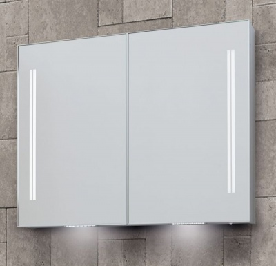 Space II LED Illuminated Double Door Cabinets - available in 3 sizes
