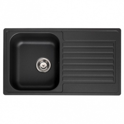Century 10 Black Kitchen Sink