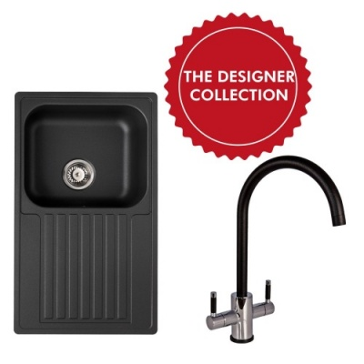 Century 10 Black  Sink & Tap Pack