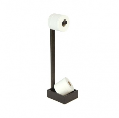 Dark Oak Freestanding Toilet Roll Holder