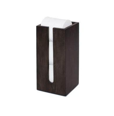 Mezza Dark Oak Toilet Roll Storage Box