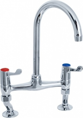 Commercial Lever Bridge Sink Mixer -3'' Levers