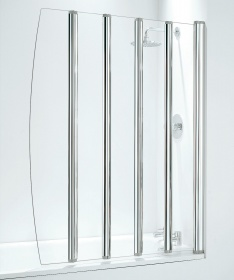 Five Panel Folding Bath Shower Screen