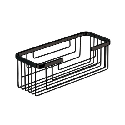 Gedy Deep Shower Basket - Black