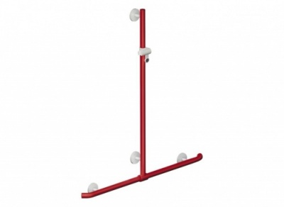 HEWI Rail with Vertical Support Bar and Shower Head Holder