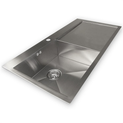 Zen 'Uno' 51F Designer Bowl & Drainer Kitchen Sink - Left Handed