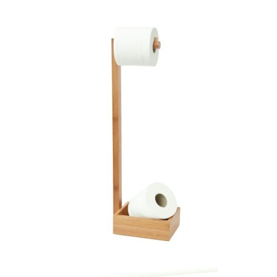 Natural Oak Freestanding Toilet Roll Holder