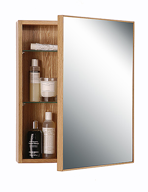 Natural Oak '550' Slimline Bathroom Cabinet