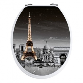 'Paris'  Famous Cities Toilet Seat - Soft Close Hinges