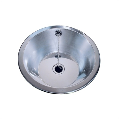 Pland Stainless Round Countertop Bowl & Elbow Medical Tap Set