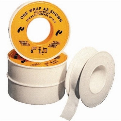 Plumbers PTFE Tape - Trade Pack Of 10 Rolls