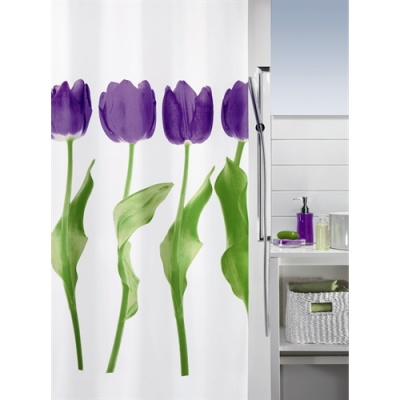 Tulip Luxury Shower Curtain - Purple