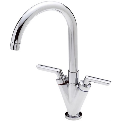 Ideal Twin Lever Contract Kitchen Tap