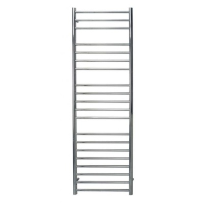 Polished Stainless Steel Straight Heated Towel Rail 700 x 500