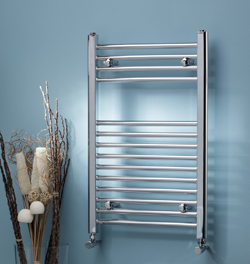Titan Chrome Heated Towel Rail 1200 x 500