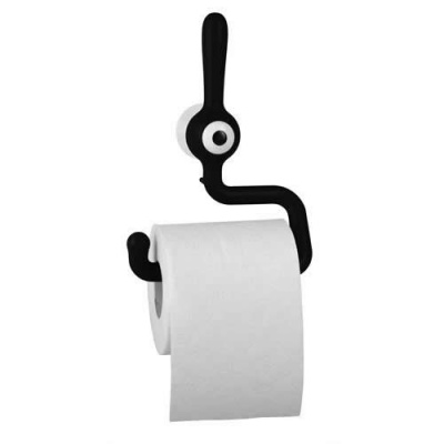 Toq 'Cyclops' Toilet Roll Holder - Black