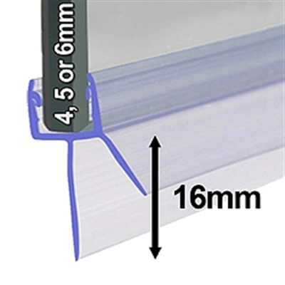Universal Shower Screen Seal for 4-6mm glass - Fits ALL Makes
