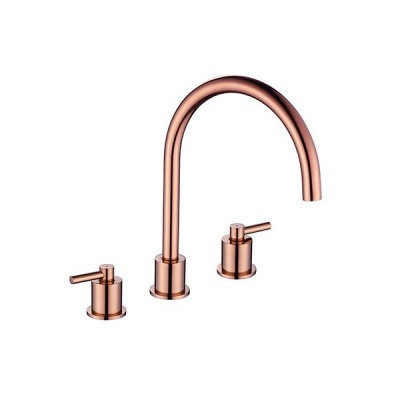 Aero Luxury 3 Hole Kitchen Mixer Tap - Copper
