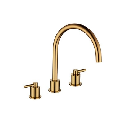 Aero Luxury 3 Hole Kitchen Mixer Tap - Gold