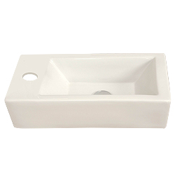 '500' White Ceramic Basin