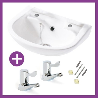 Compact  Cloakroom Makeover Pack - Easy lever Taps