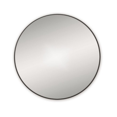 Docklands Round Mirror - Black
