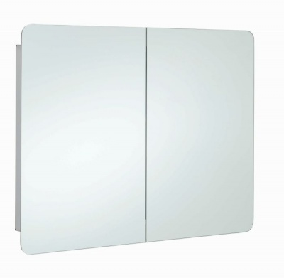 Duo Double Bathroom Cabinet with Mirrored Door