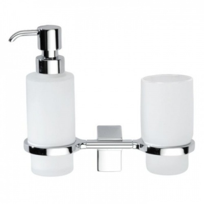 Eletech Soap Dispenser & Tumbler Holder